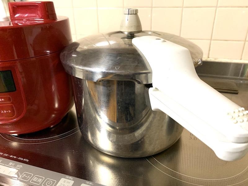 今までの圧力鍋の写真